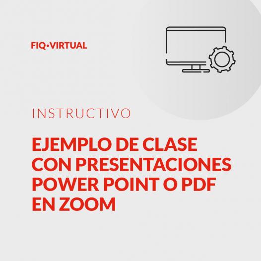 Clases con presentaciones en Zoom
