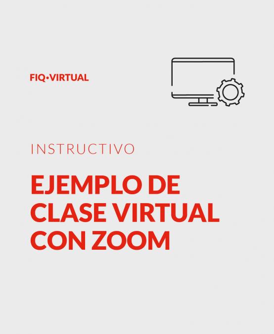 Ejemplo de clase virtual con zoom